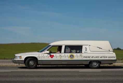 Florida-bilen kände sig som hemma i finska sommarhettan